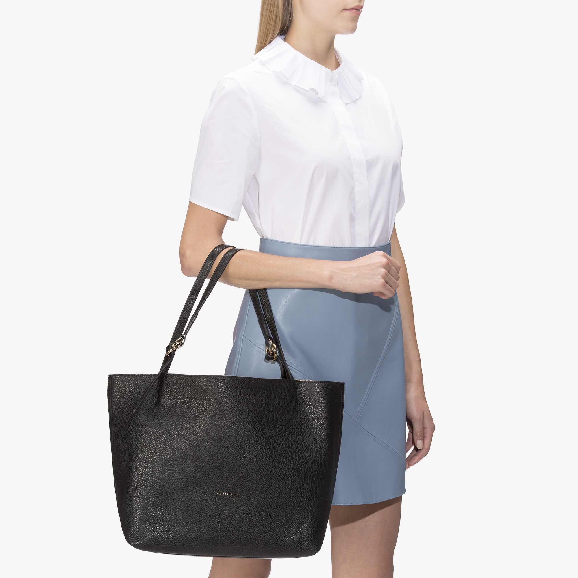 Coccinelle Davon leather shopping tote