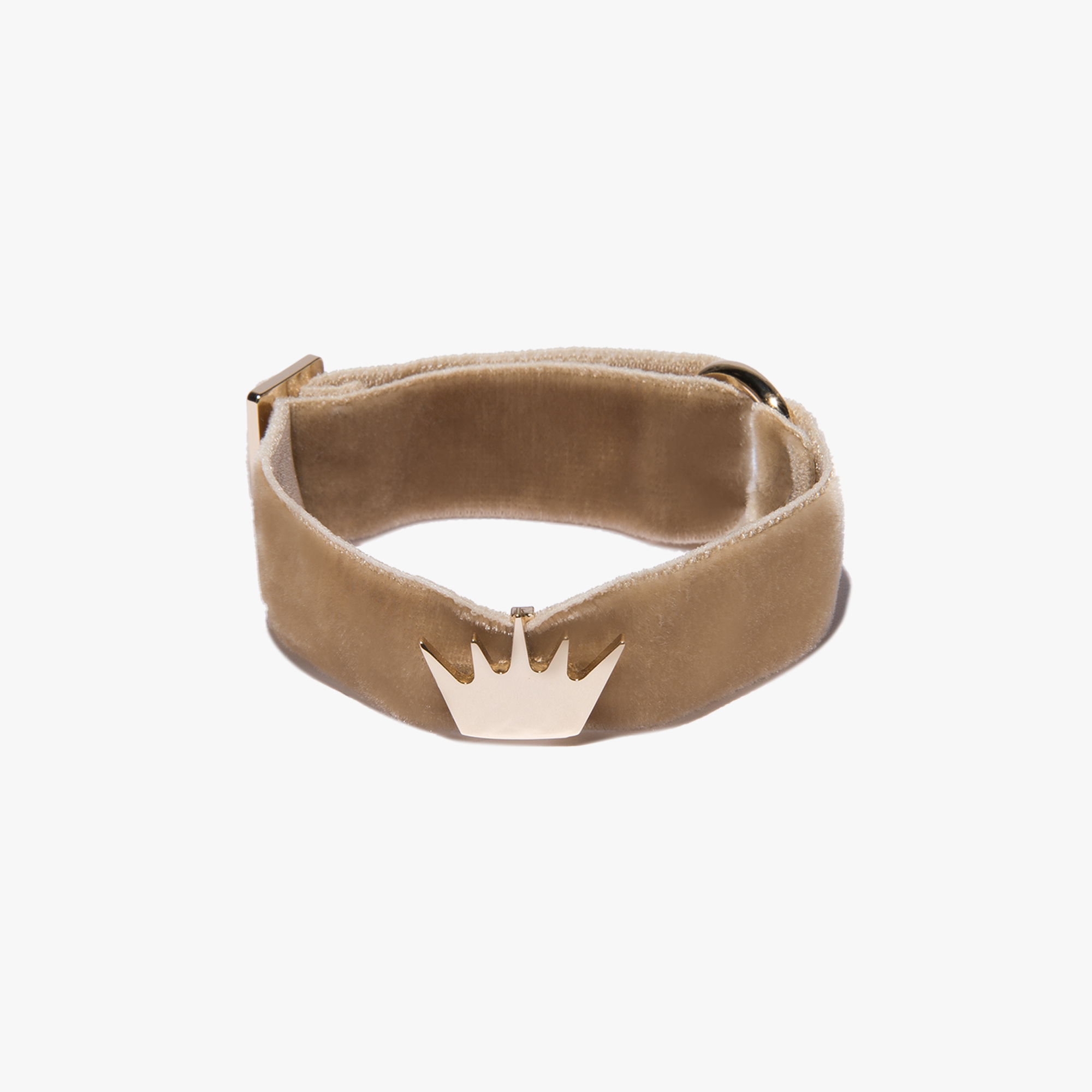 Leather and fabric bracelet