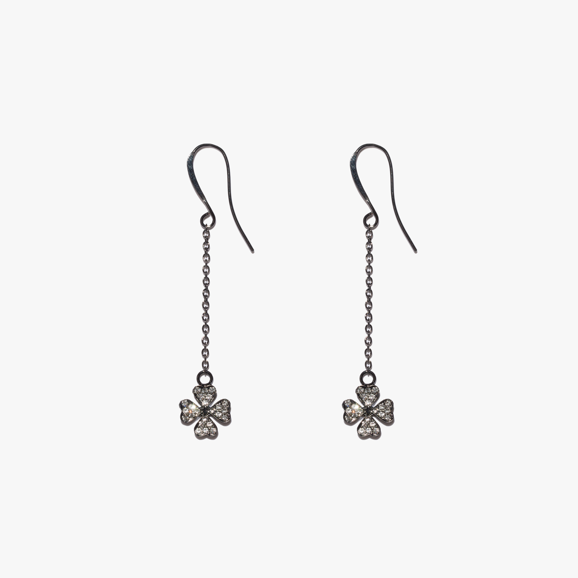 Coccinelle Brass and glass earrings