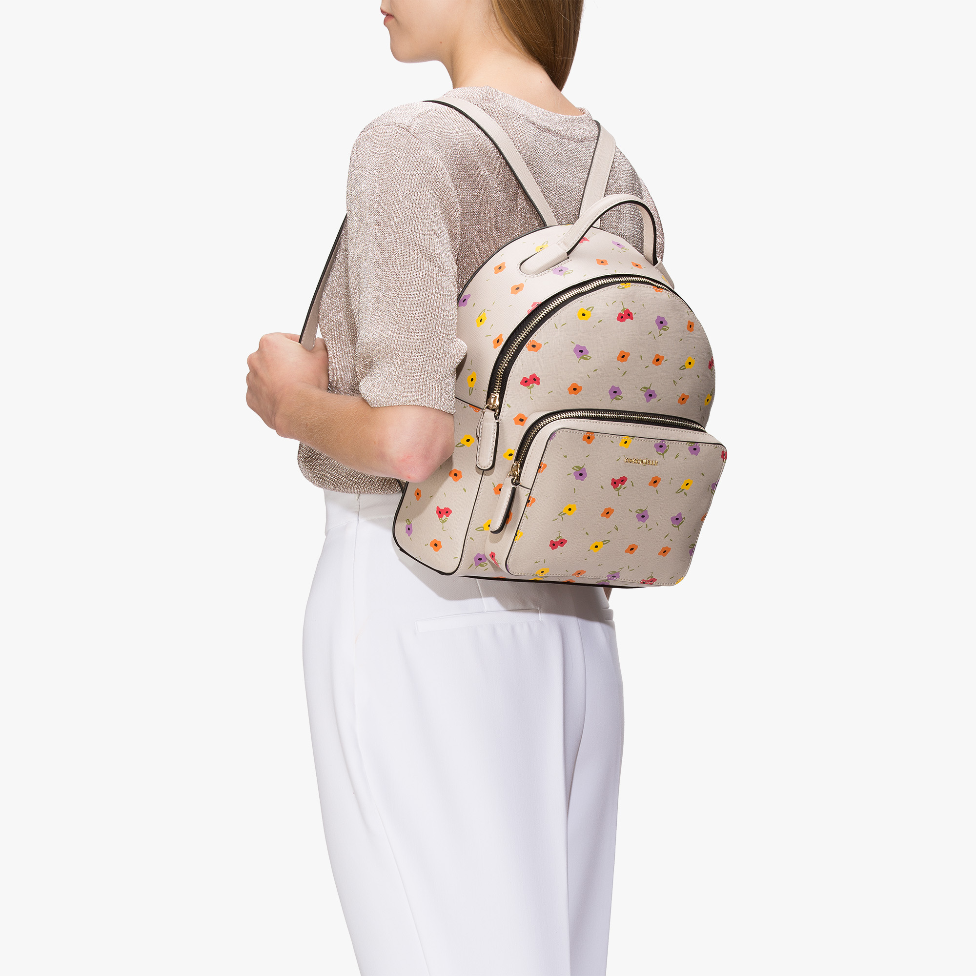 Coccinelle Clementine saffiano leather backpack