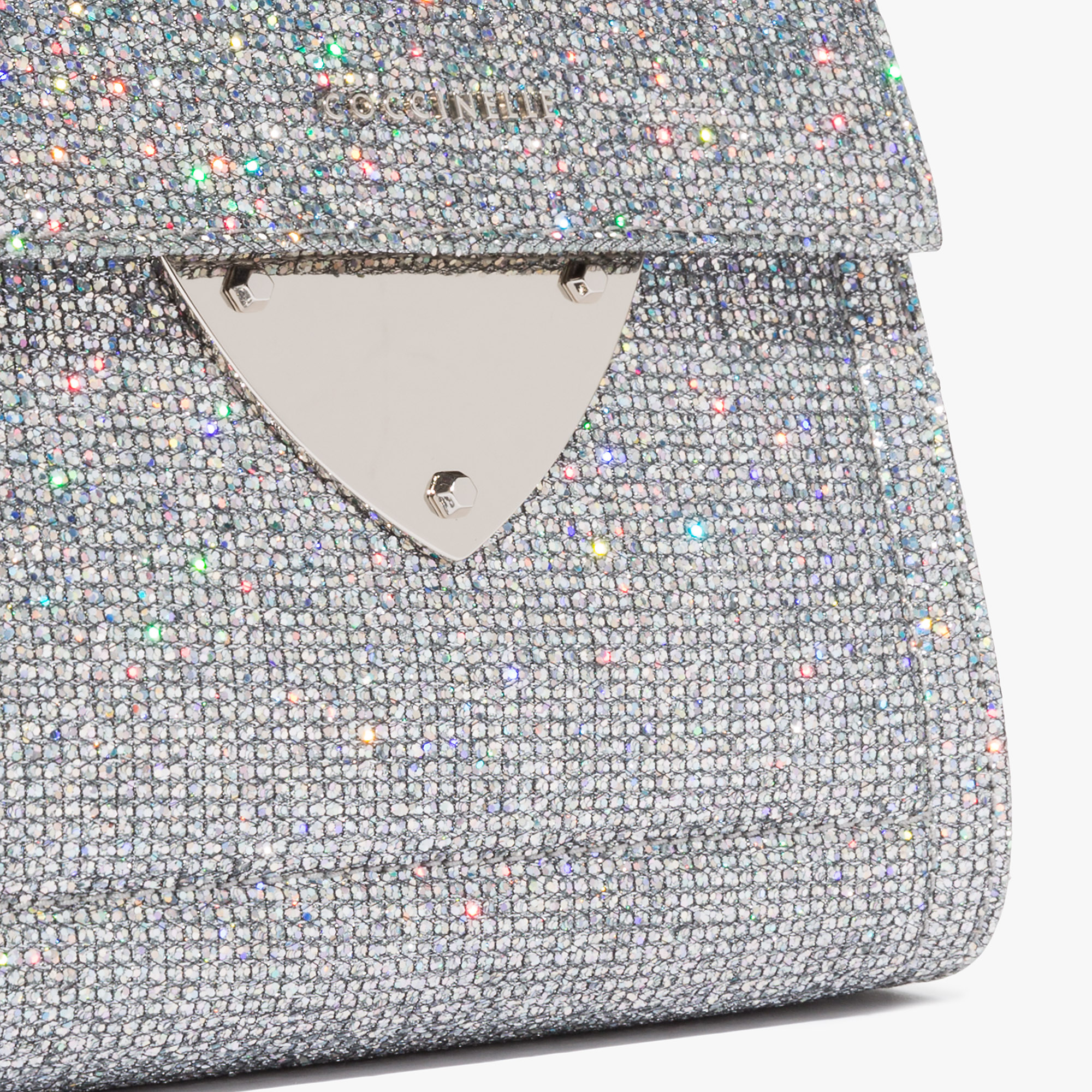 Coccinelle B14 mini bag in glittery leather