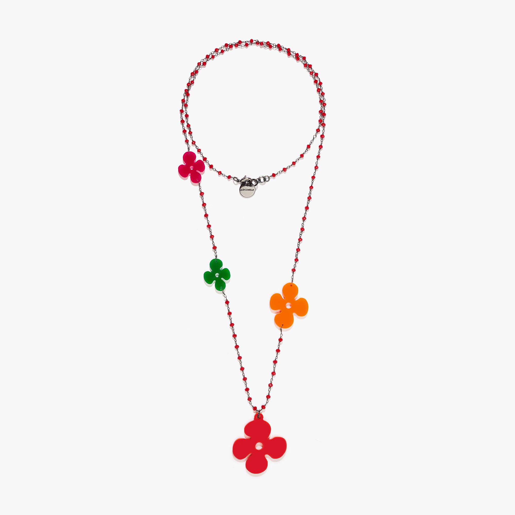 Plexiglas and crystal necklace