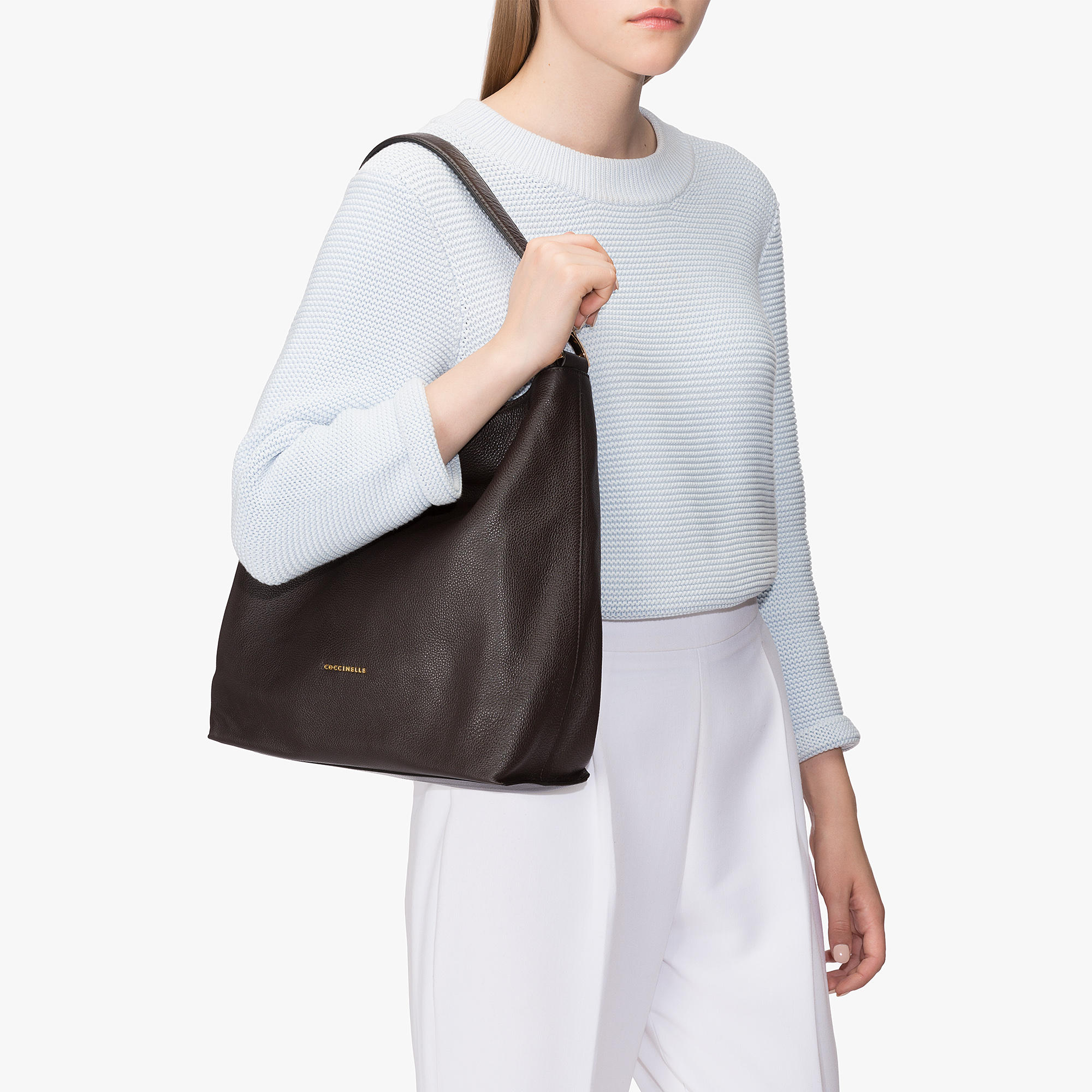 Coccinelle Arlettis leather hobo bag