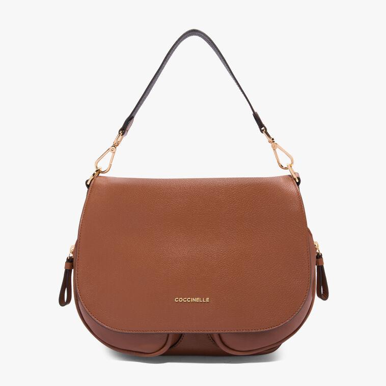 Janine leather bag with single shoulder strap