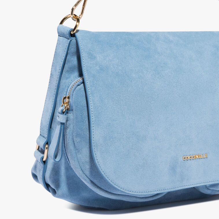 Janine Suede shoulder bag