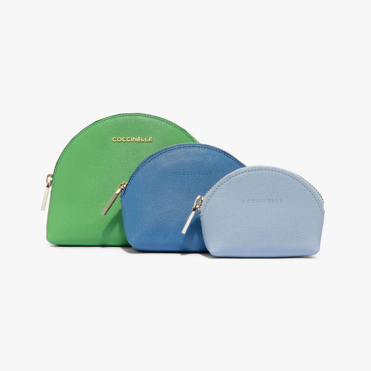 Saffiano make-up bag trio