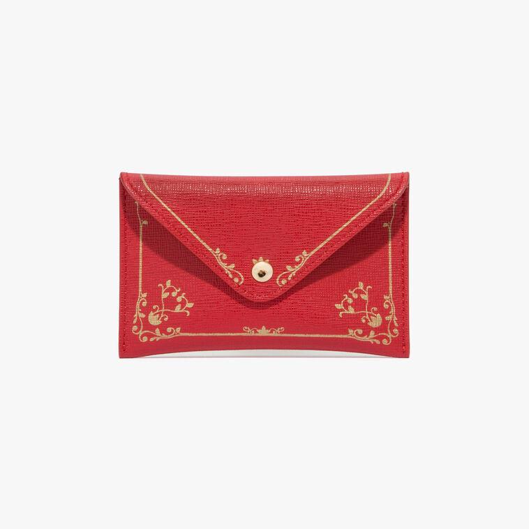 Saffiano leather document holder