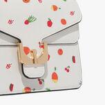 Ambrine printed saffiano bag