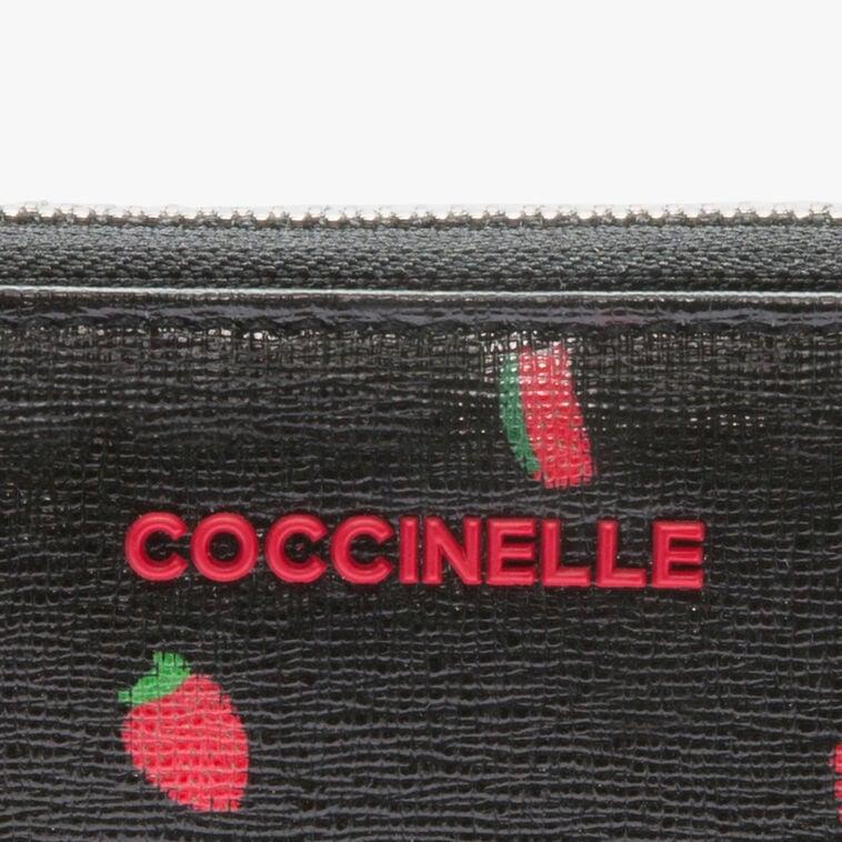 Printed saffiano wallet