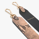 Python-print leather shoulder strap