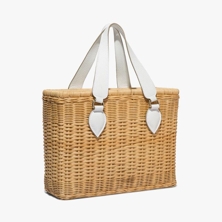 Rattan straw shopping bag