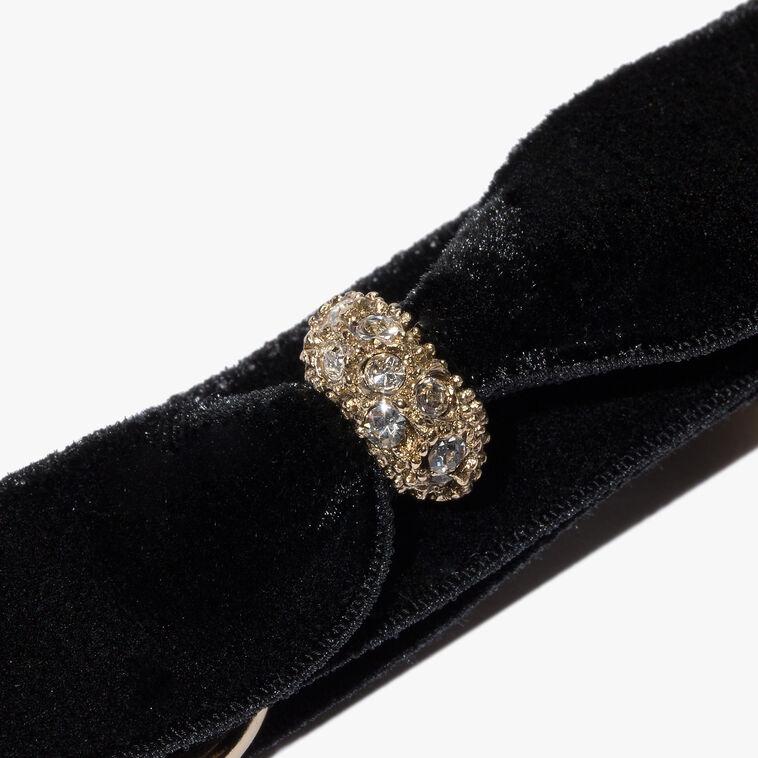 Velvet and crystal bracelet