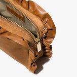 Brune suede minibag