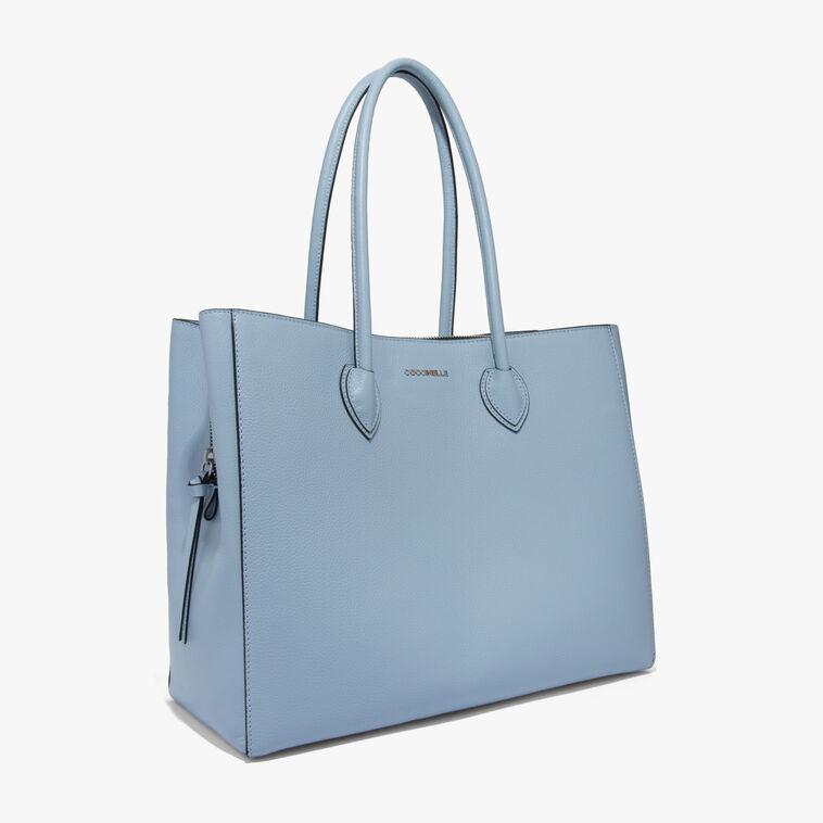 Farisa leather shopping tote