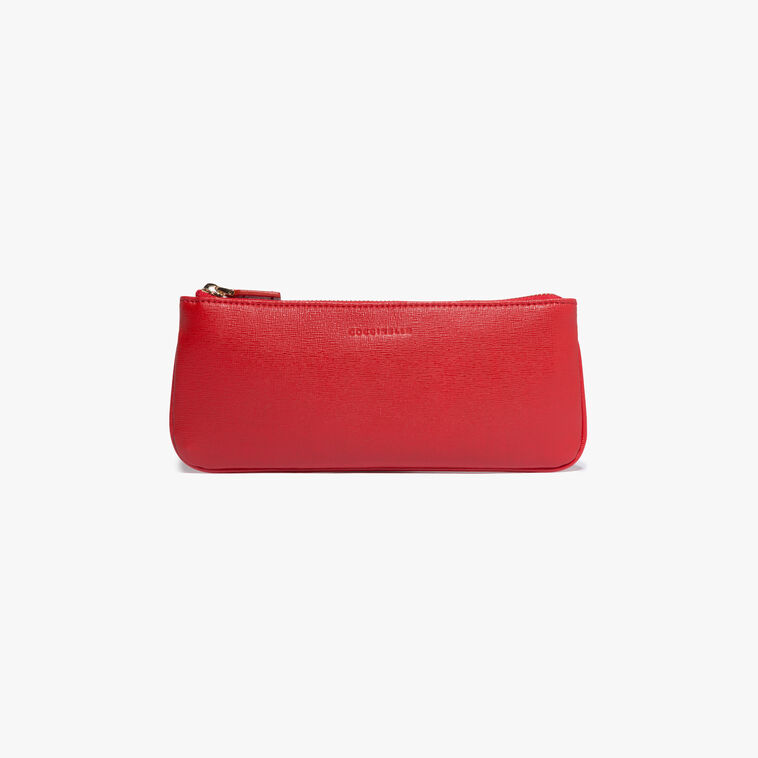 Saffiano leather clutch bag
