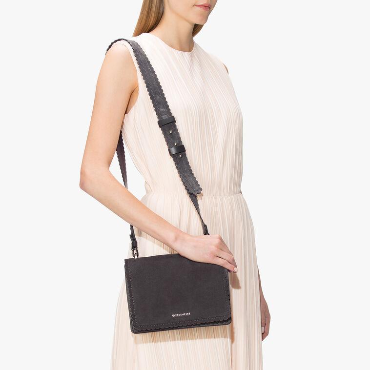 Leopoldine suede cross-body bag