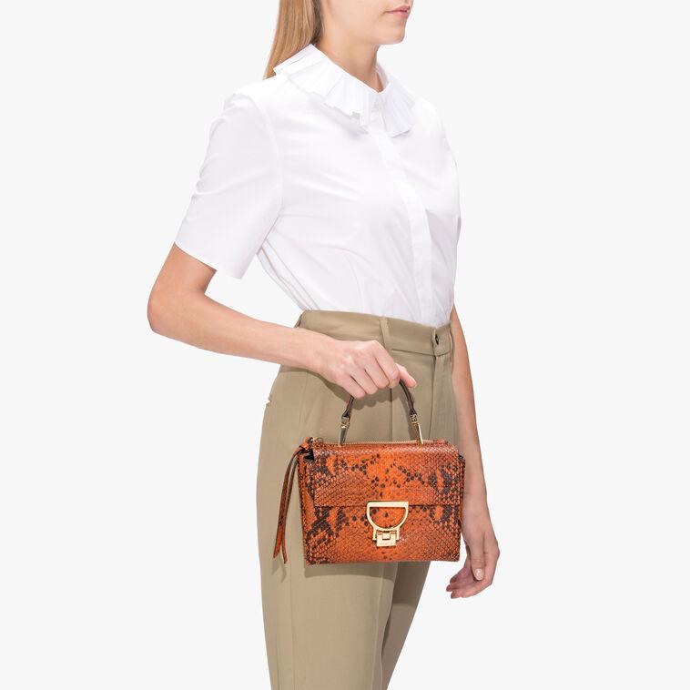 Arlettis python-print leather mini bag