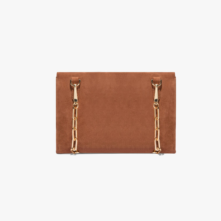 Arlettis suede clutch bag