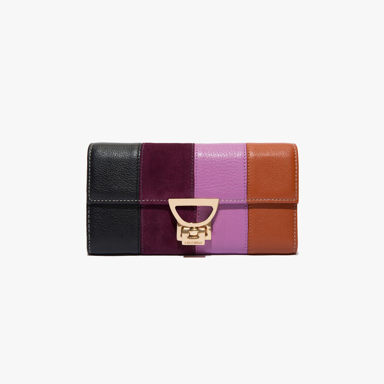 Leather and suede wallet
