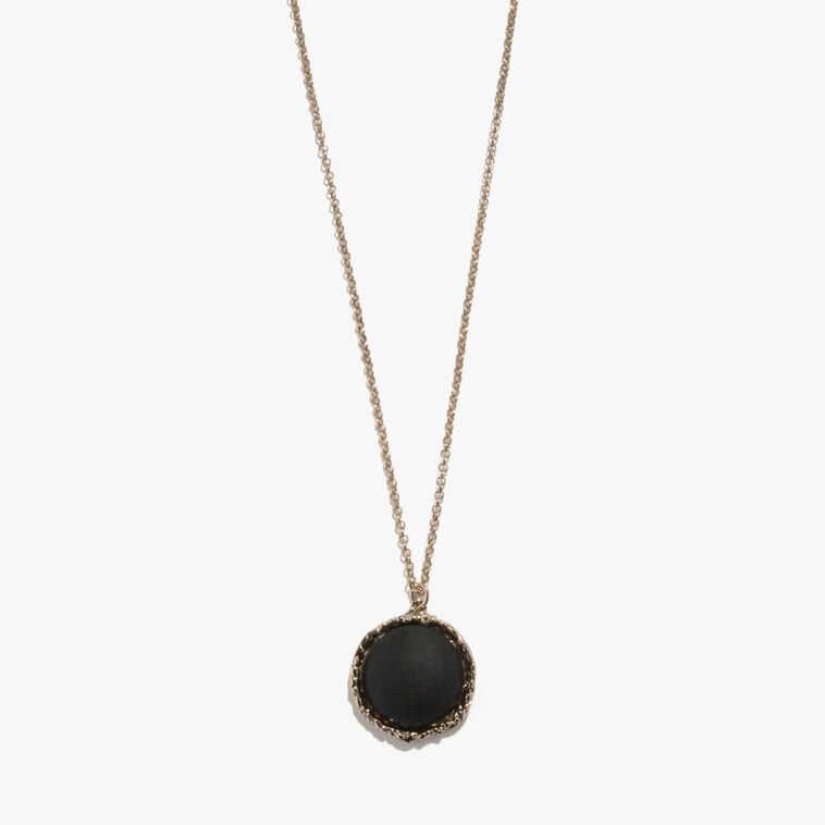 Brass and wood necklace