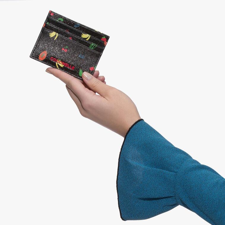 Printed saffiano card case