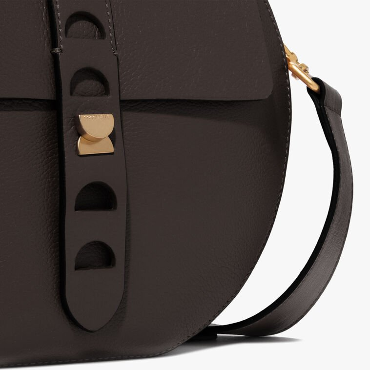 Carousel leather bag with a single strap