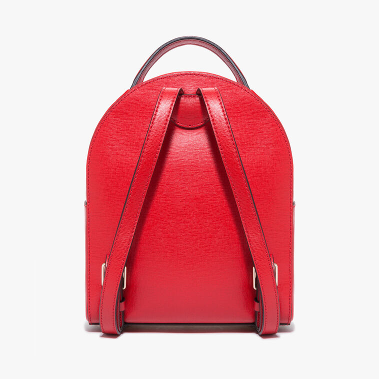 Clementine saffiano leather mini backpack