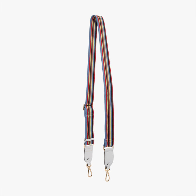 Leather and fabric shoulder strap
