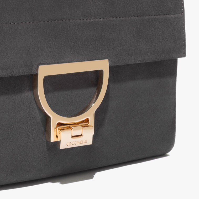 Arlettis suede bag with a single strap
