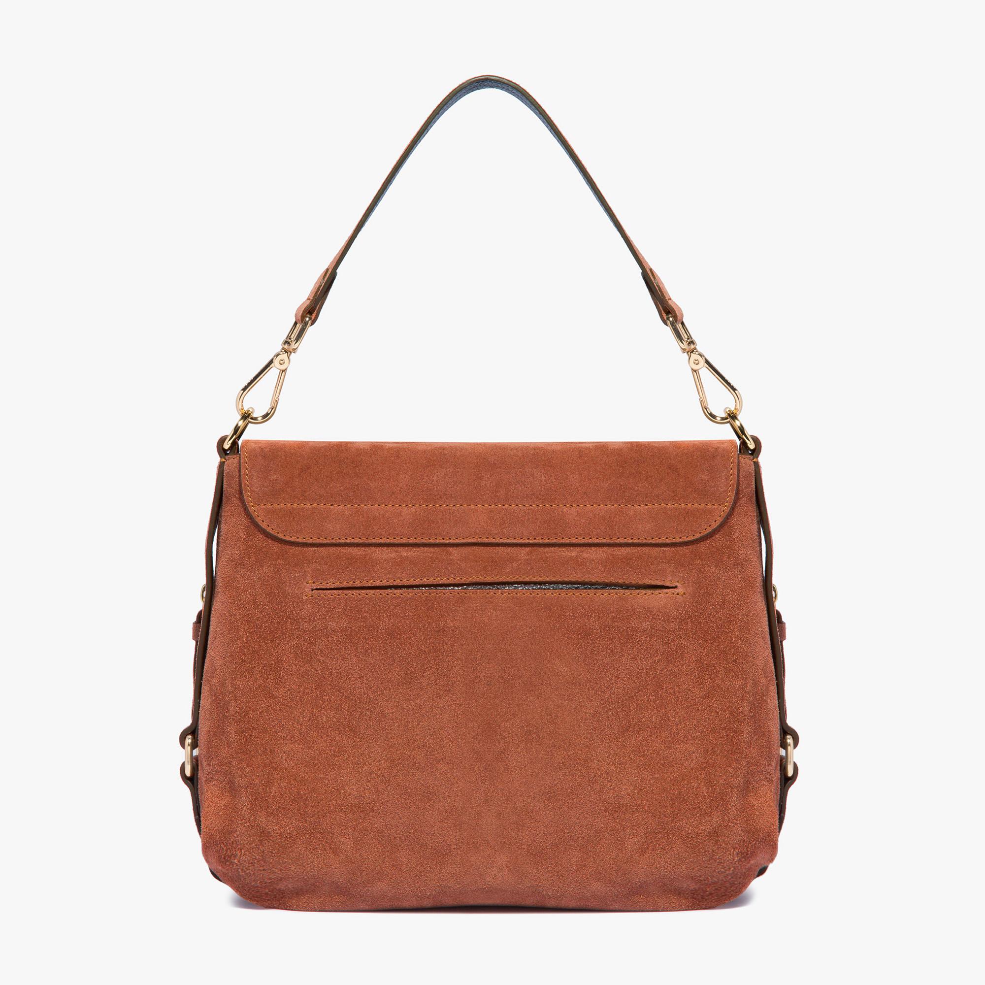 Janine Suede shoulder bag