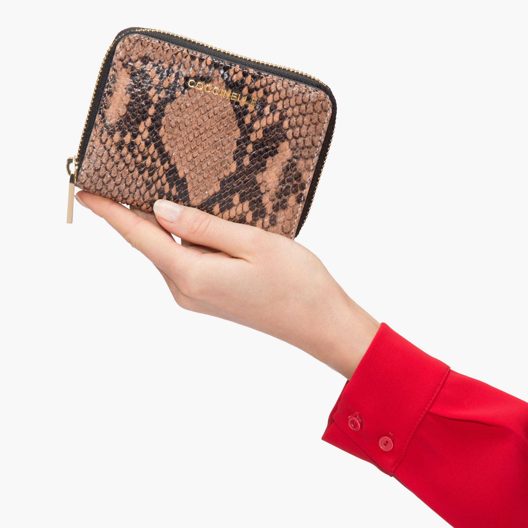 Python-print leather wallet
