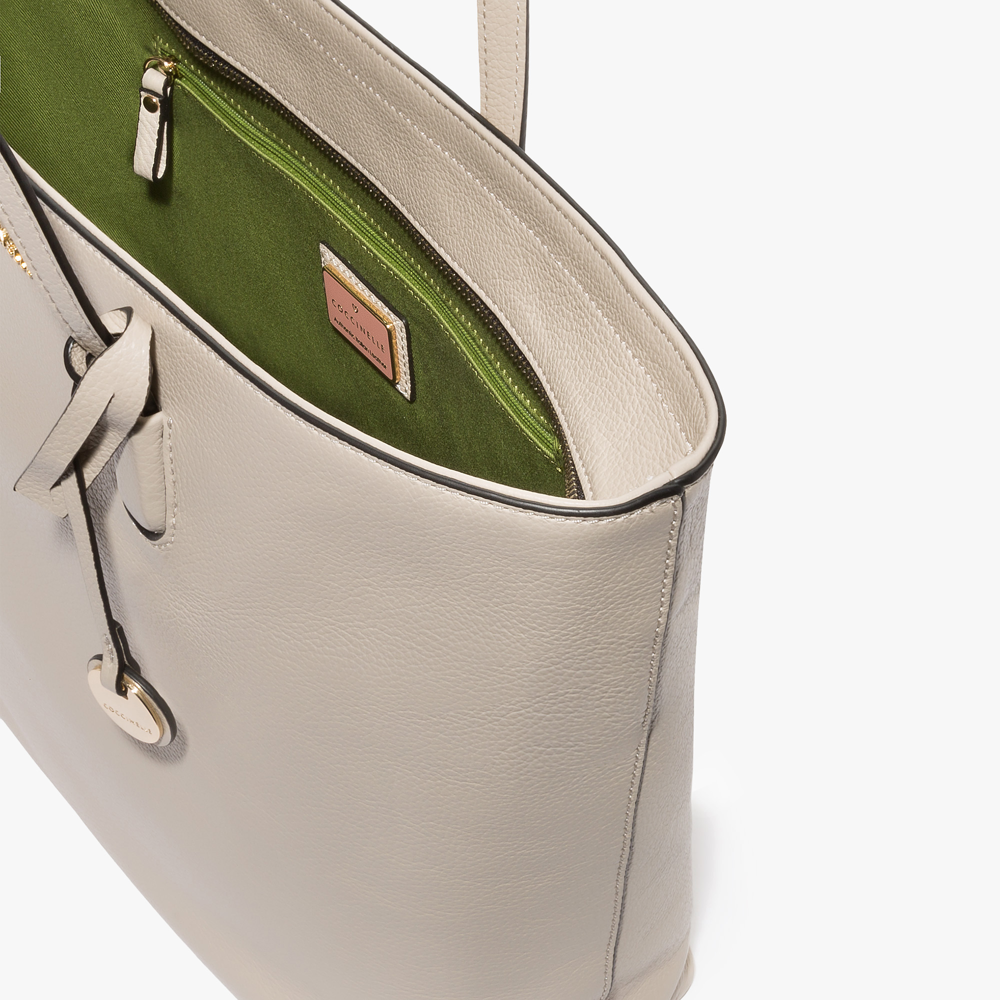 Clementine leather shopping tote