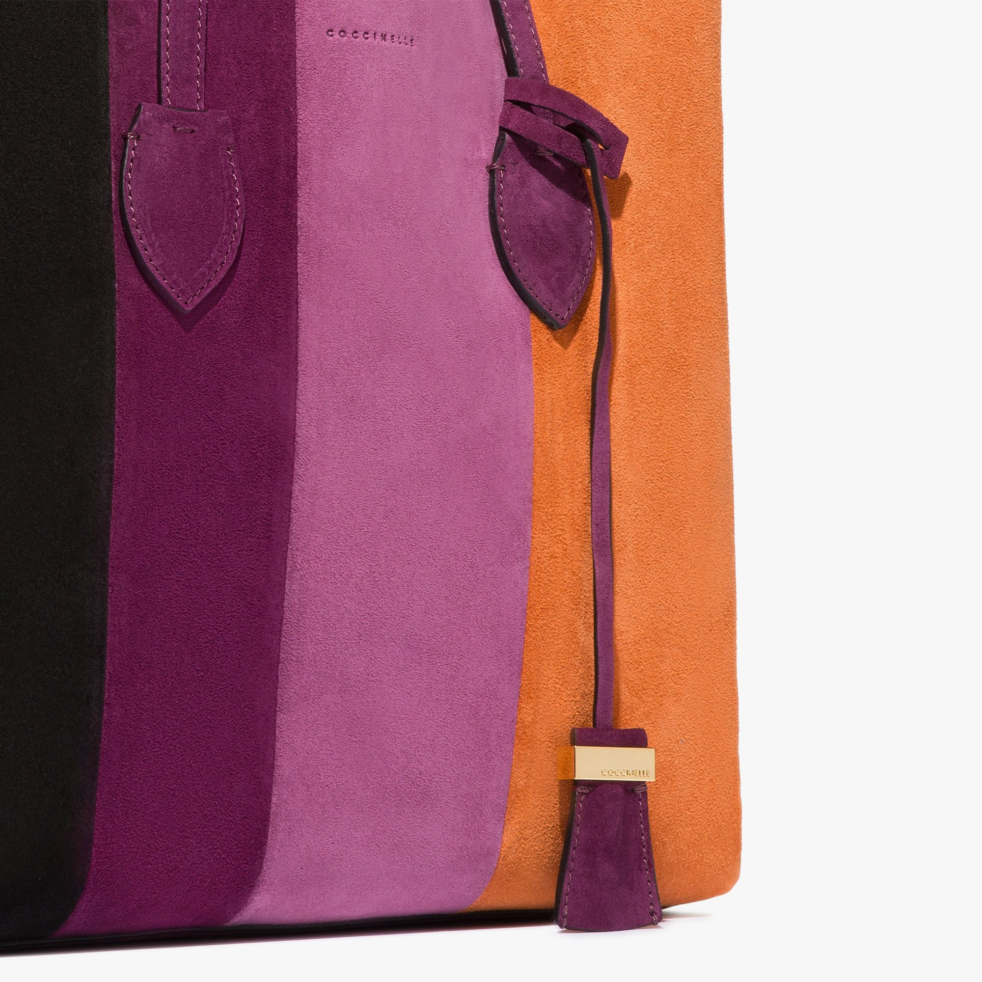 Celene suede shopping tote