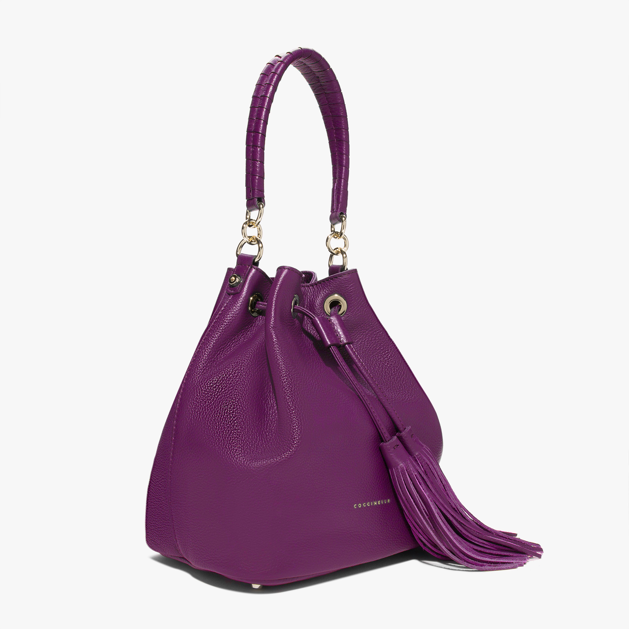 women 39 s leonie leather bucket bag in raisin coccinelle. Black Bedroom Furniture Sets. Home Design Ideas