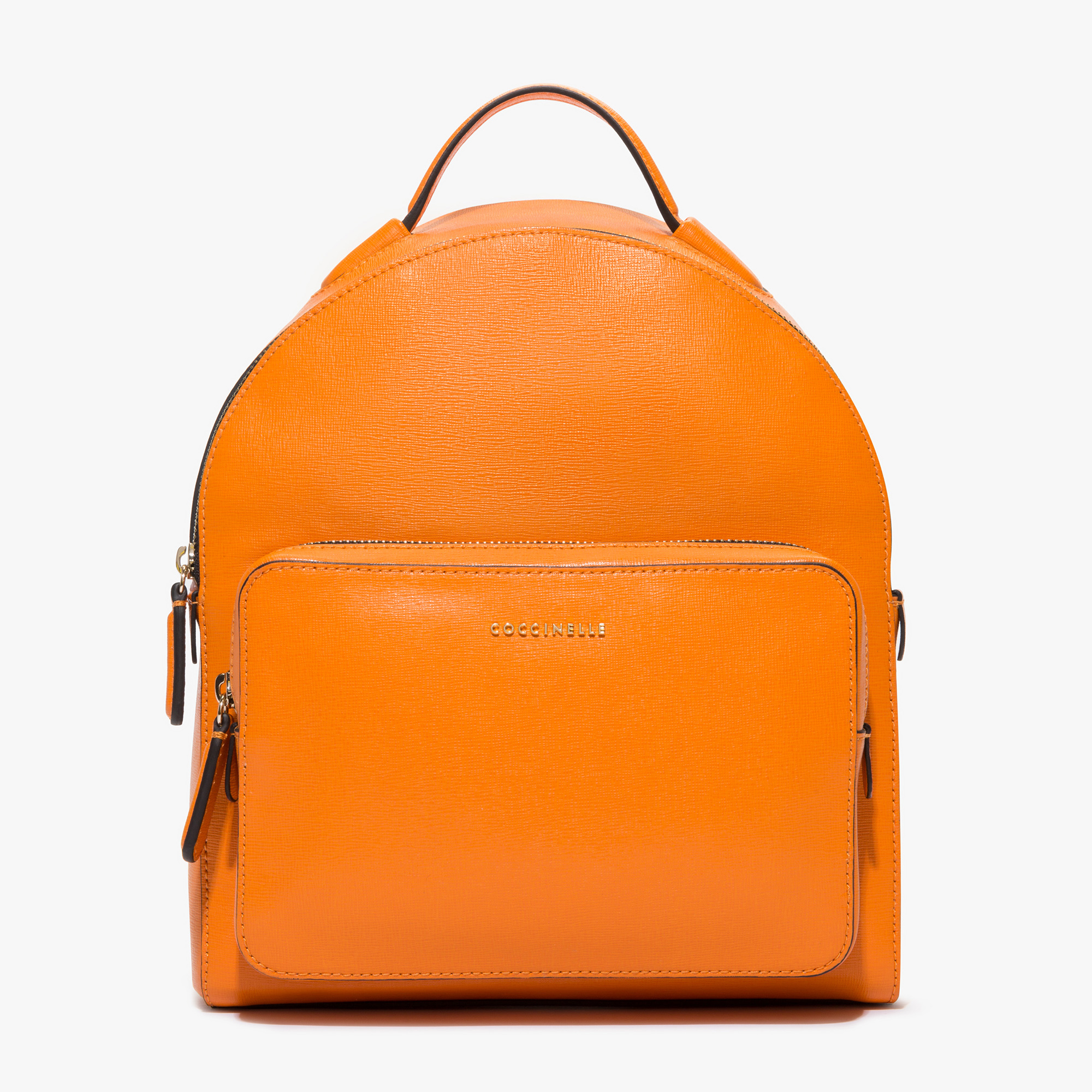 Clementine Saffiano Leather Backpack in Gerbera | Coccinelle