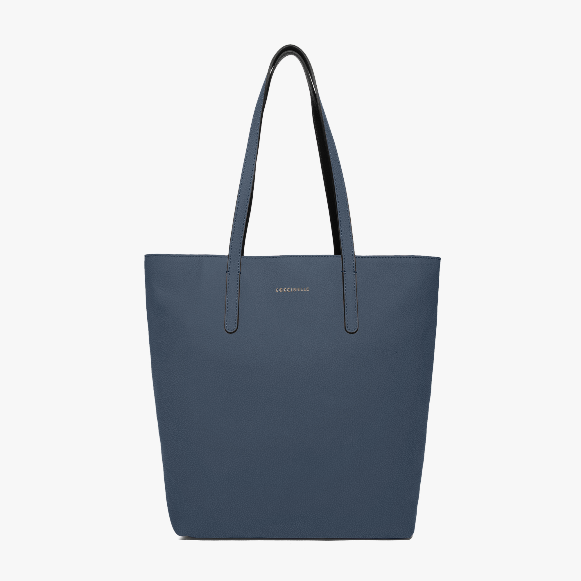 Leather shopping tote