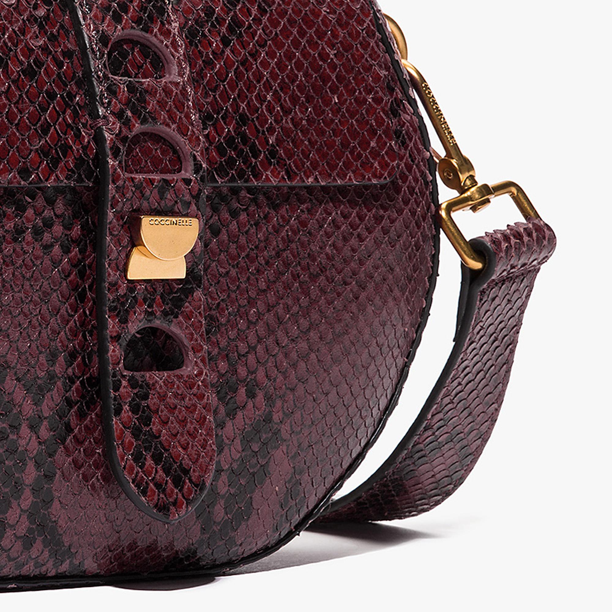 Carousel python-print leather mini bag
