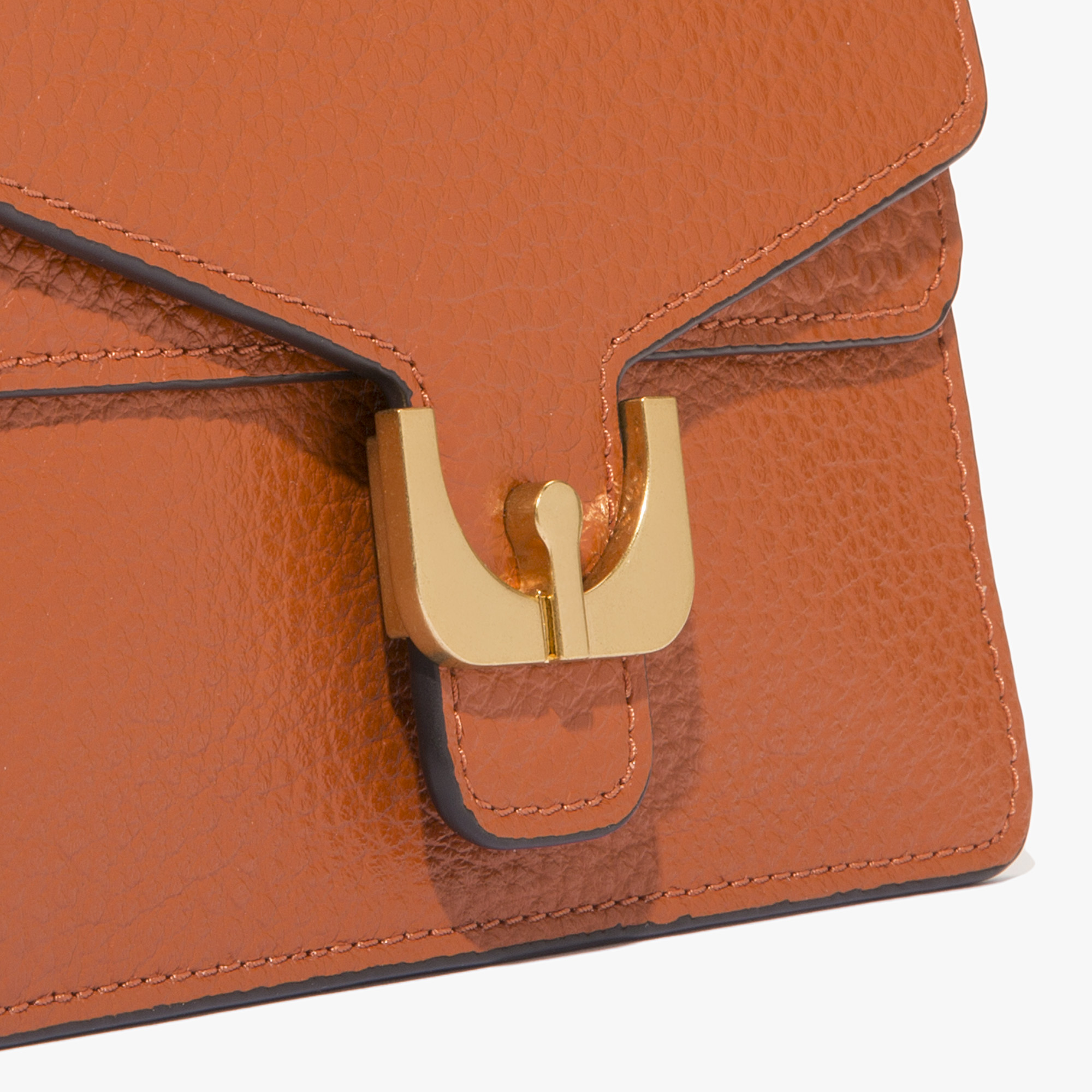 Ambrine leather bag with a single strap