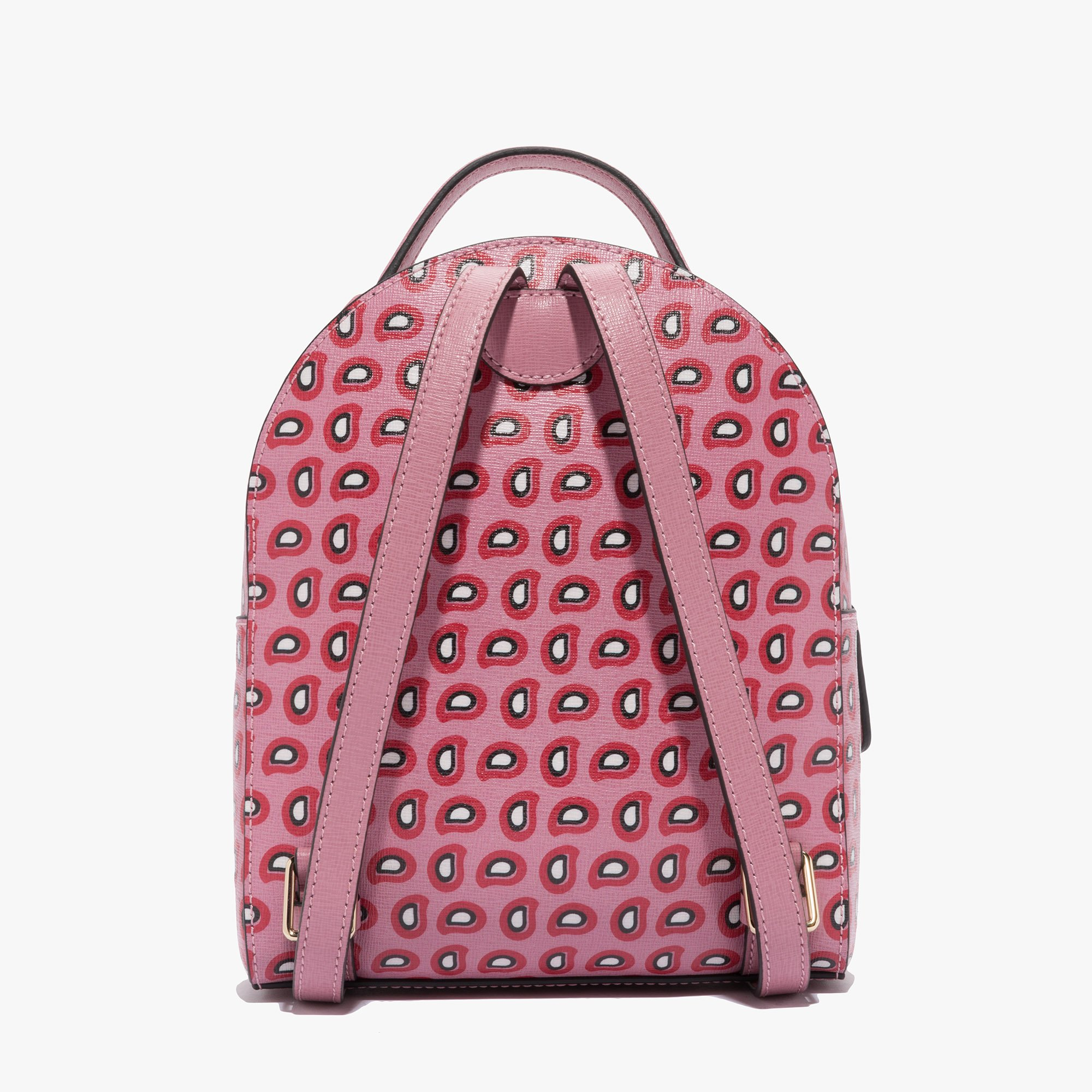 Clementine printed saffiano leather mini backpack