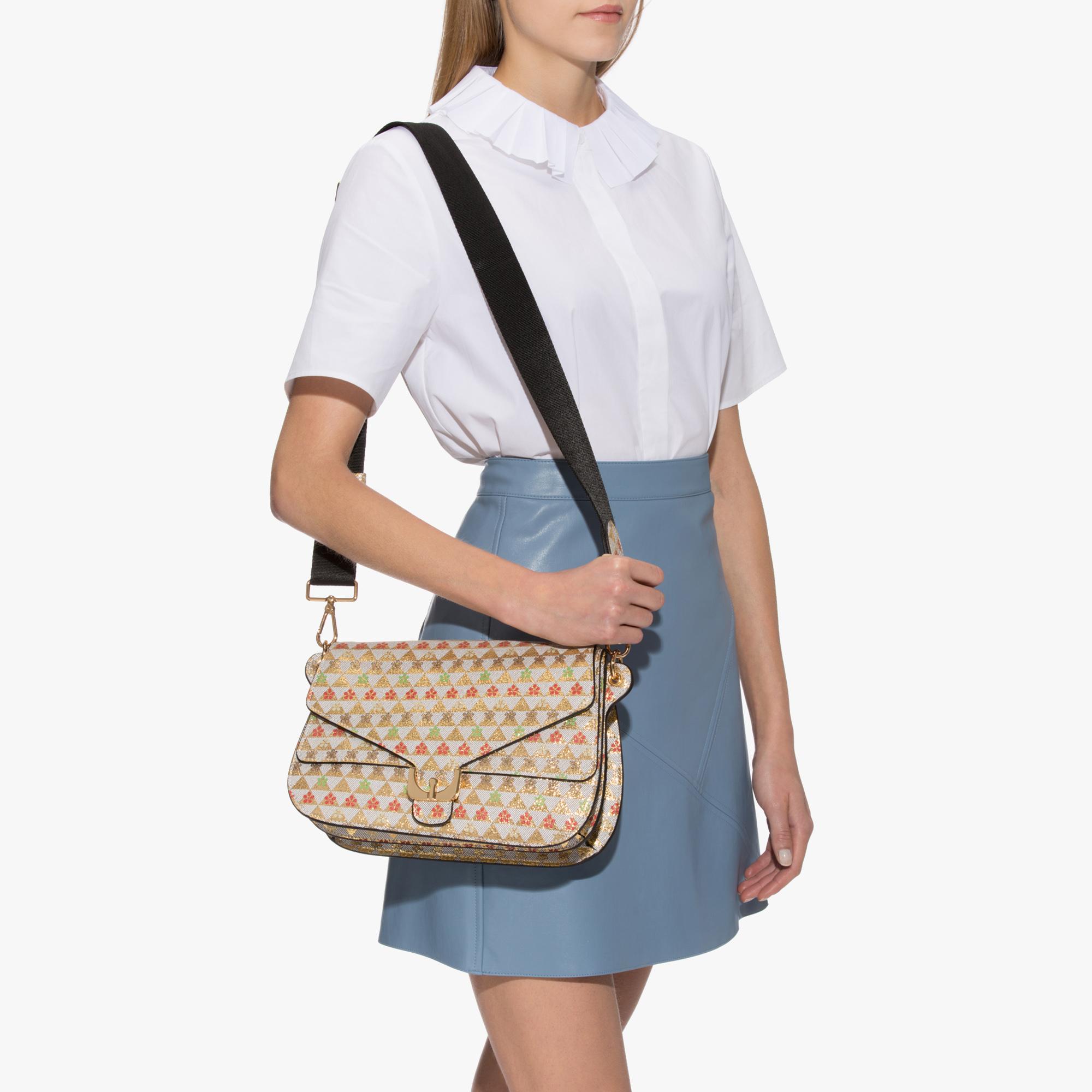 Ambrine printed leather shoulder bag