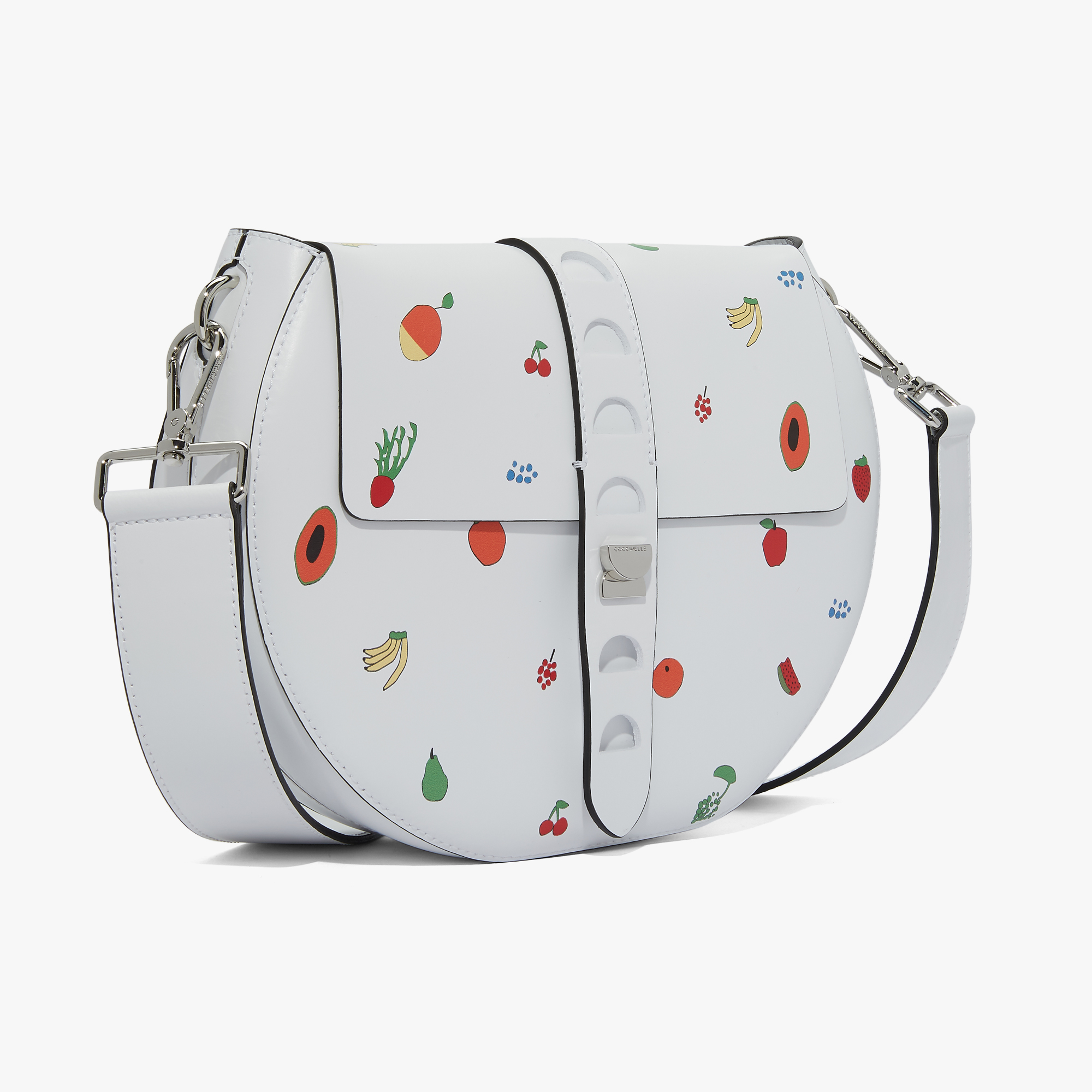 Carousel printed calfskin bag with single shoulder strap