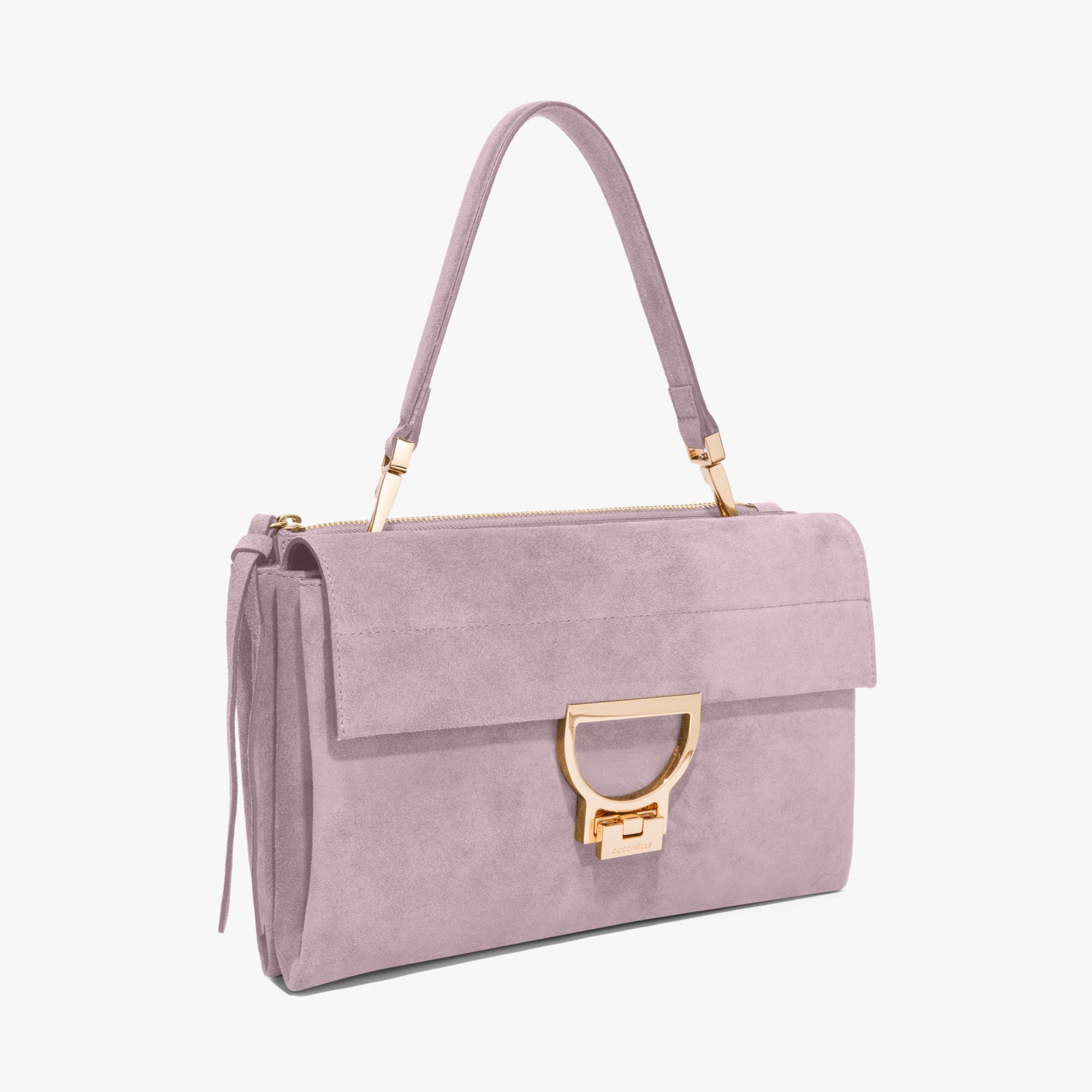 Arlettis single shoulder-strap suede bag