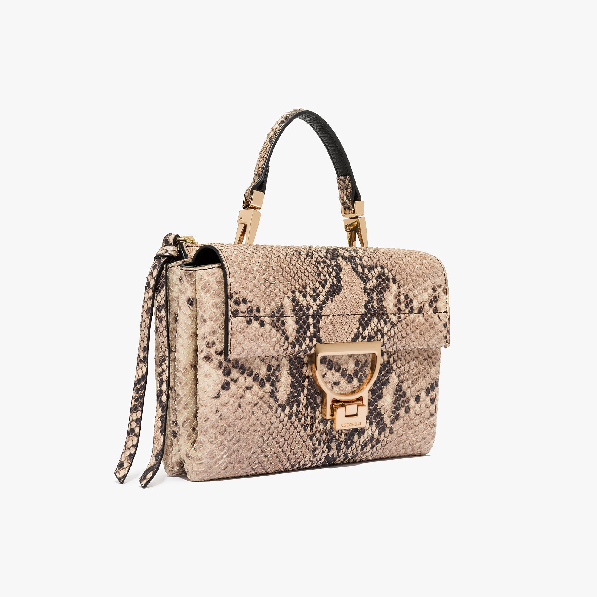 Arlettis python print leather minibag