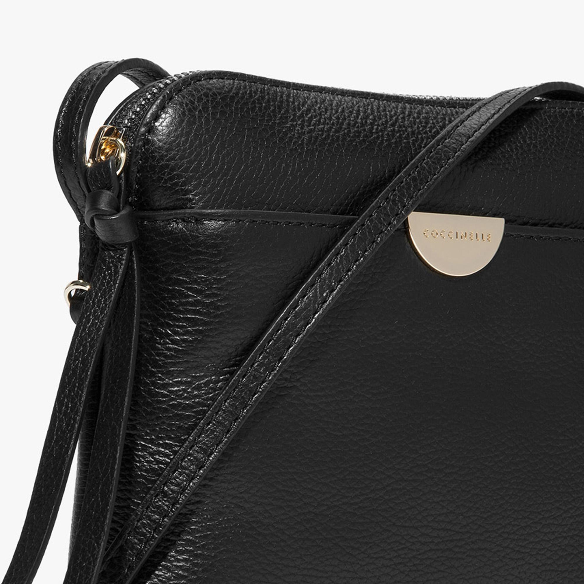Leather mini clutch