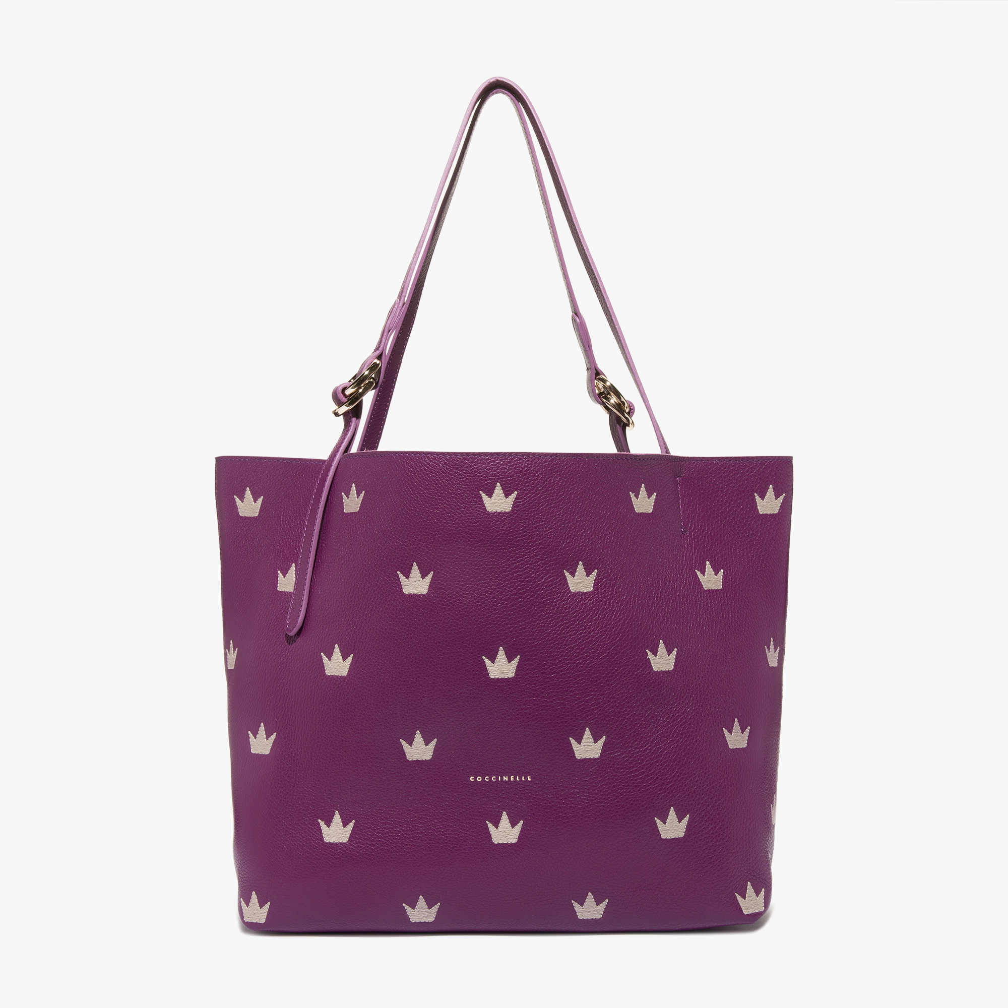 Davon leather shopping tote