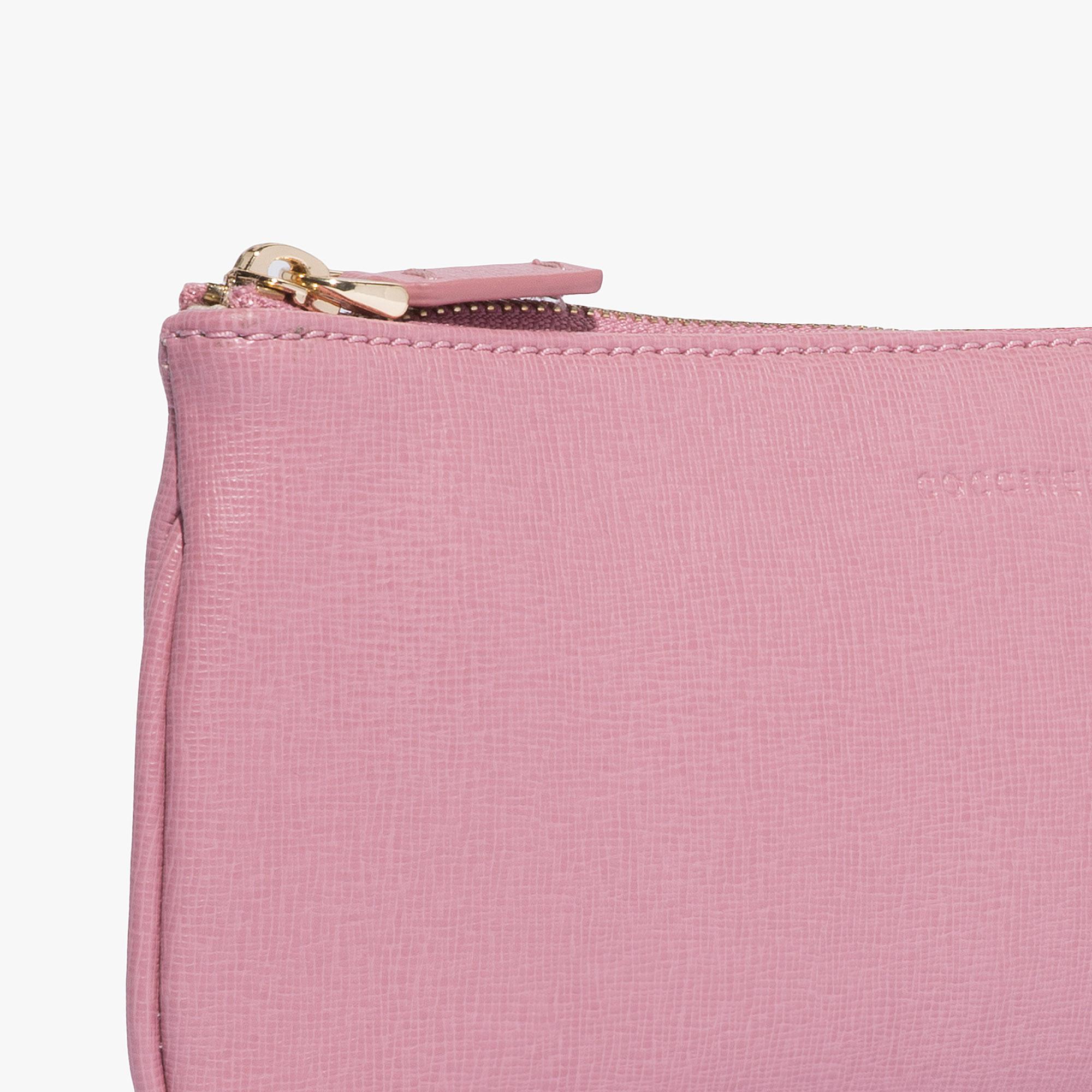 Saffiano leather clutch bag