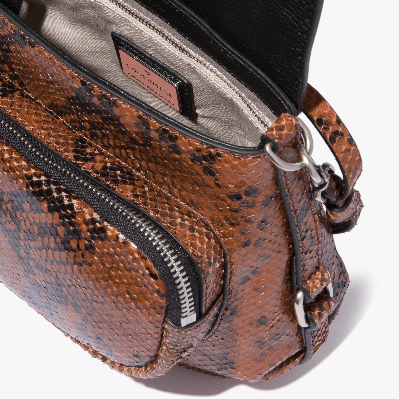 Janine Python-print leather mini bag