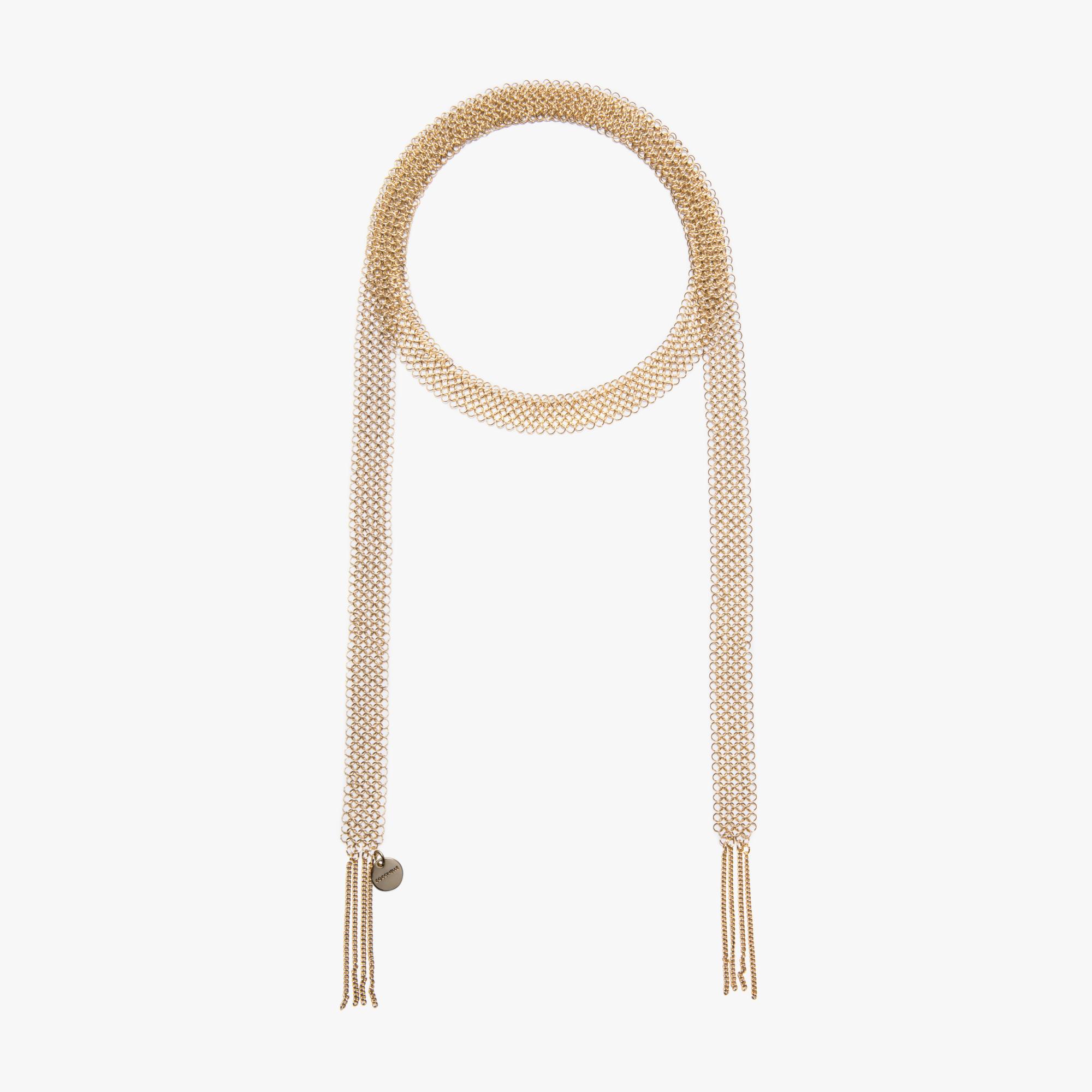 Brass wire-mesh necklace