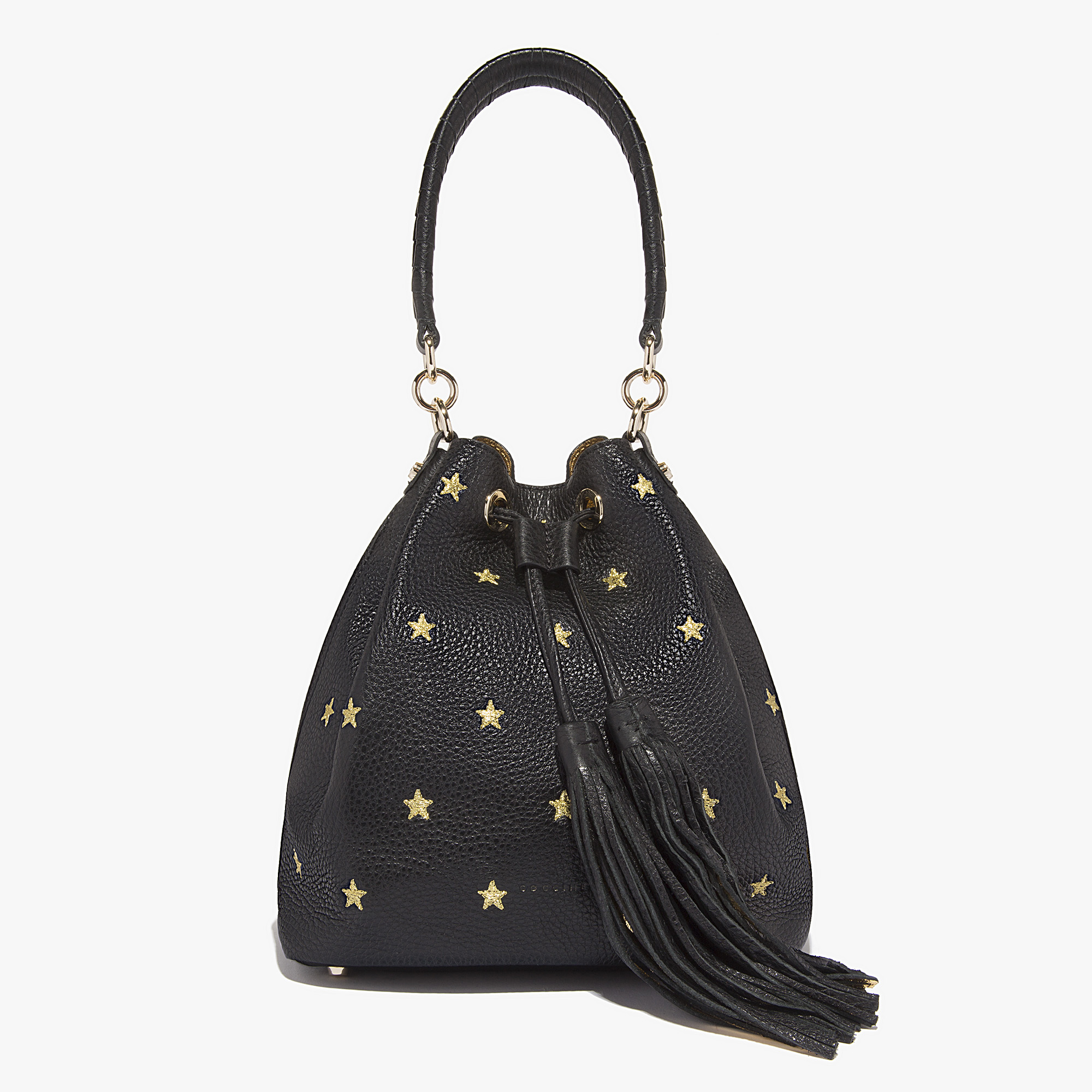 women 39 s leonie leather bucket bag in noir or coccinelle. Black Bedroom Furniture Sets. Home Design Ideas