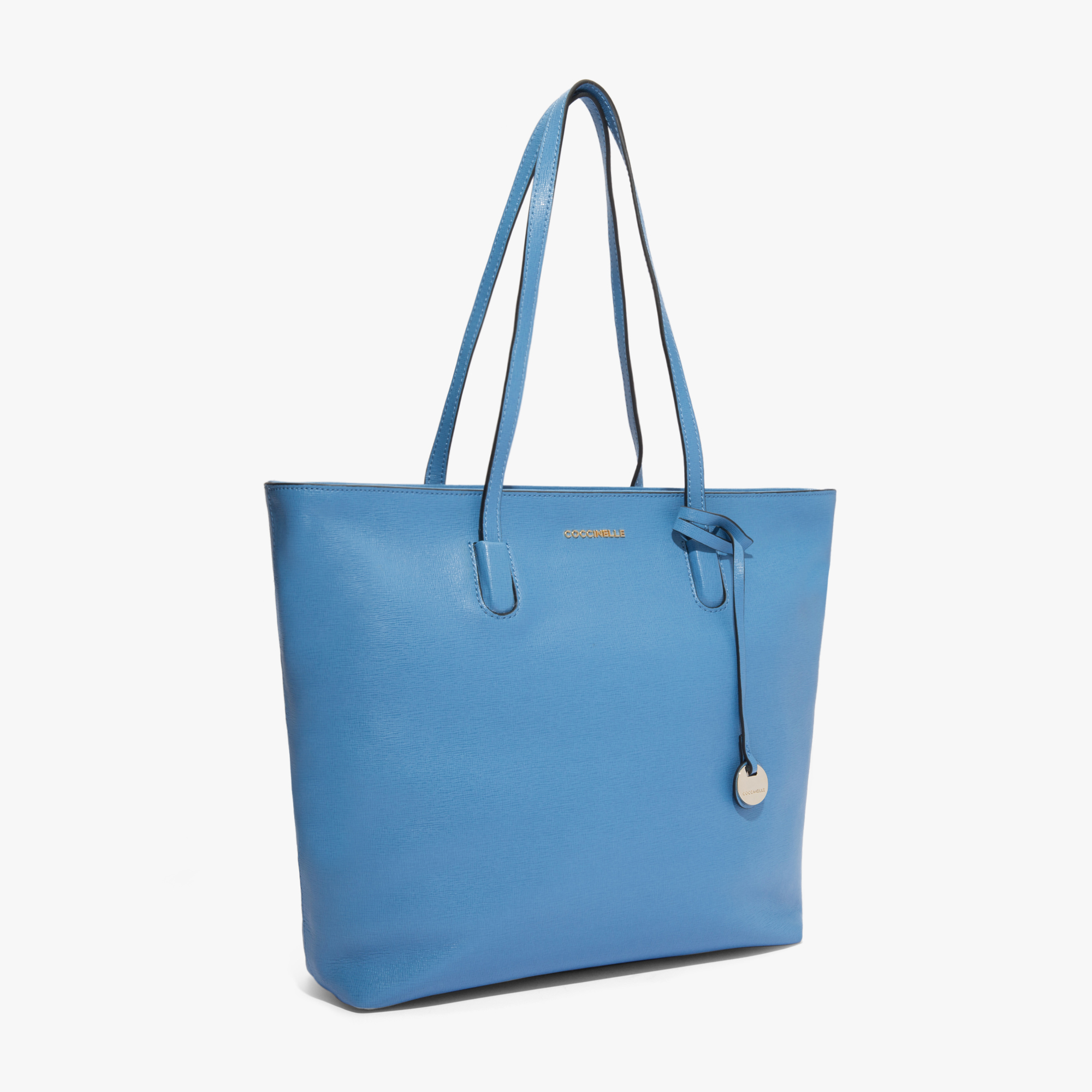 Clementine saffiano leather shopping tote